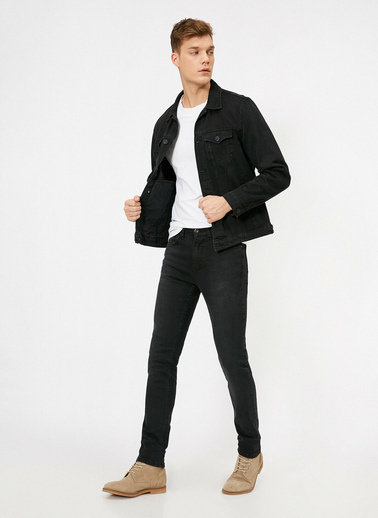 Koton Michael Skinny Fit Jean Pantolon Siyah
